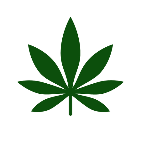 Marijuana Leaf icon Logo Template. Medical cannabis. Health and Medical therapy. Isolated vector illustration on white background. Illustration