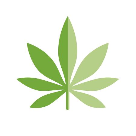 Marijuana Leaf icon Logo Template. Health and Medical therapy. Drug consumption, marijuana use. Marijuana Legalization. Medical marijuana icon. Drug symbol. Isolated vector illustration on white background. Illustration