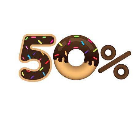 Sale 50 percent icon