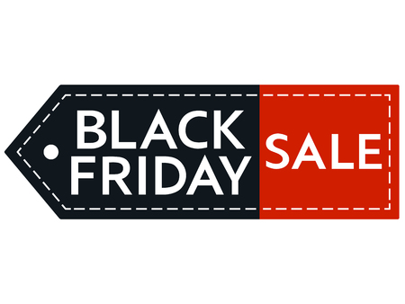 Black Friday sale. Inscription design template. Black Friday banner with copy space. Isolated vector illustration on white background. 向量圖像