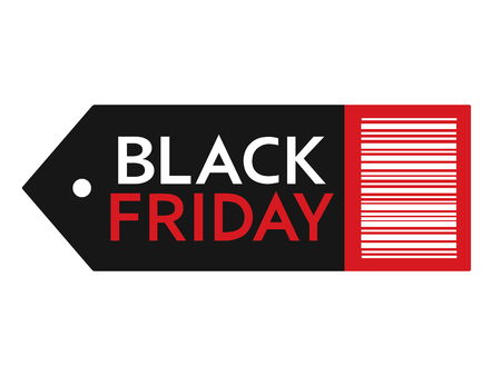 Black Friday sale. Inscription design template. Black Friday banner. Isolated vector illustration on white background.