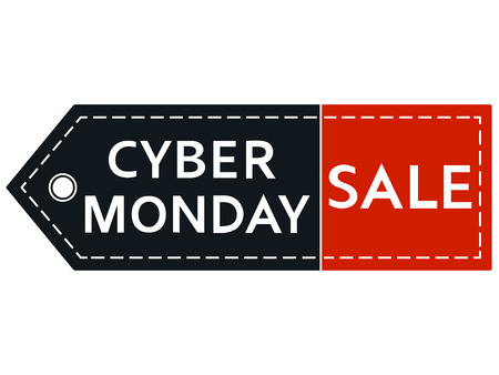 Cyber monday sale. Inscription design template. Cyber monday banner. Isolated vector illustration on white background. 向量圖像