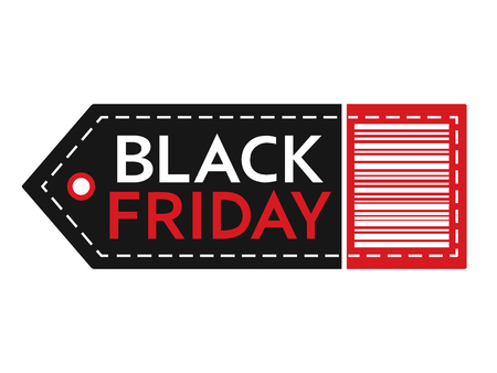 Black Friday sale. Inscription design template. Black Friday banner. Isolated vector illustration on white background. 版權商用圖片 - 126474045