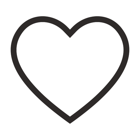 Linear heart icon, outline love icon. Isolated vector illustration on white background.