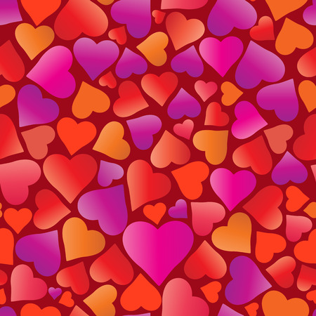 Seamless pattern with hearts. Isolated vector illustration.