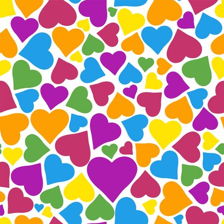 Seamless pattern with hearts. Abstract heart pattern for design t-shirt, wedding card, bridal invitation, valentines day poster, textile fabric, garment. Isolated vector illustration.  イラスト・ベクター素材