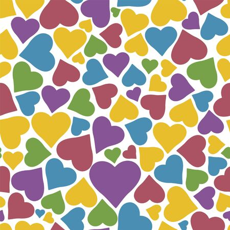 Seamless pattern with hearts. Can be used for wallpaper, pattern fills, web page background,surface textures. Isolated vector illustration.