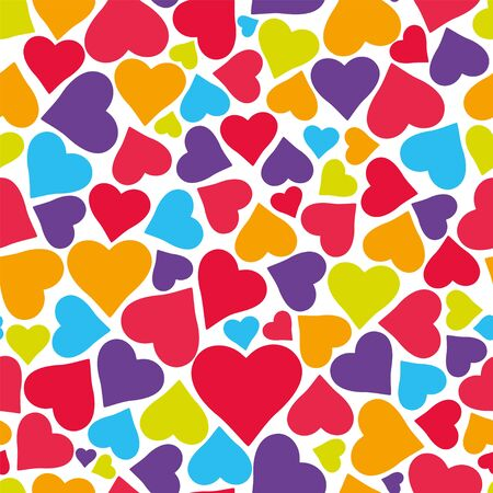 Vector seamless pattern with hearts. Can be used for wallpaper, pattern fills, web page background,surface textures.