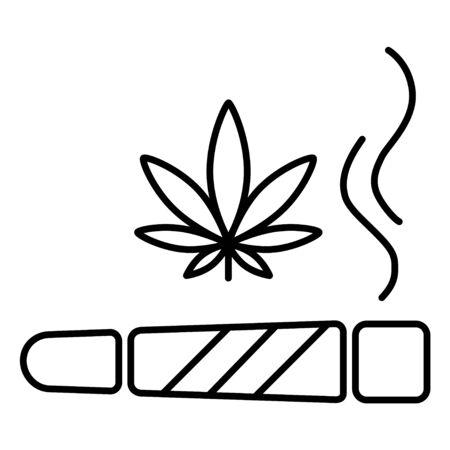 Marijuana joint icon. Isolated vector illustration on white background. Illustration