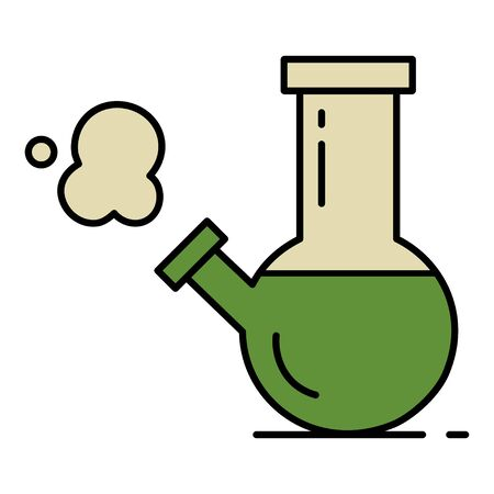 Bong for smoking. Isolated vector illustration on white background.