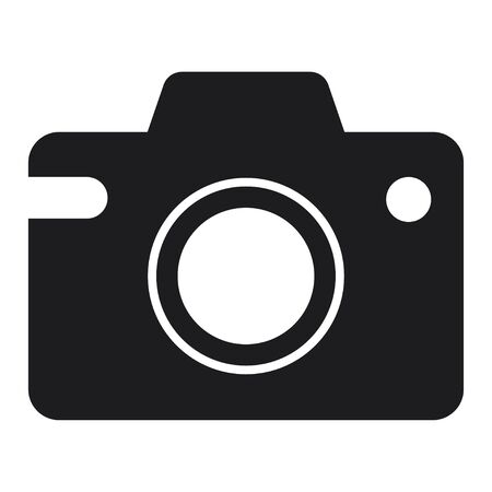 Camera Icon Vector Simple Design. Isolated illustration on white background.