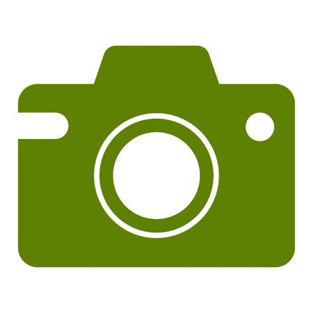 Camera Icon Vector Illustration Logo Template. Isolated illustration on white background.
