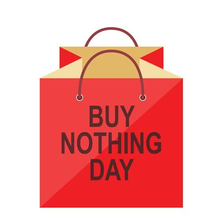 Buy Nothing Day. Concept of refusing purchases during the day in the form of a package. Isolated vector illustration on white background.