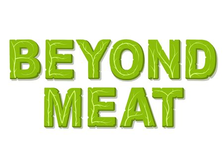 Beyond meat. Design template with place for your text. Isolated vector illustration on white background.