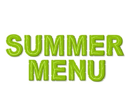 Summer menu design template with place for your text. Isolated vector illustration on white background.