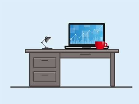 Laptop profit concept. Stock vector illustration. Isolated Ilustração