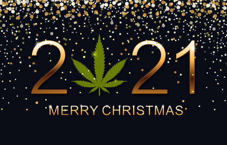 Vector illustration Christmas and New 2021 Year.