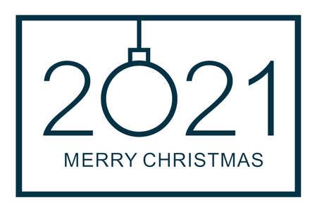 Merry Christmas design template illustration on white