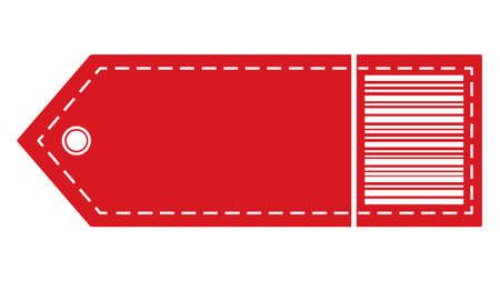Tag with barcode. Label Price Tag Icon Pictogram. Isolated vector illustration on white background.