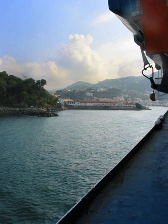 Approaching Island of Ischia, Italy