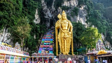 Golden Statue Lord Murugan in Batu Caves