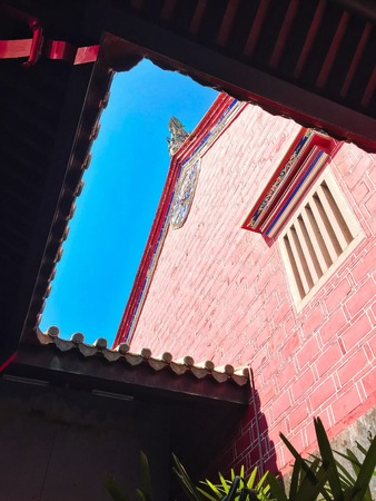 One of the most famous landmark in Penang, the Khoo Kongsi clan house Imagens