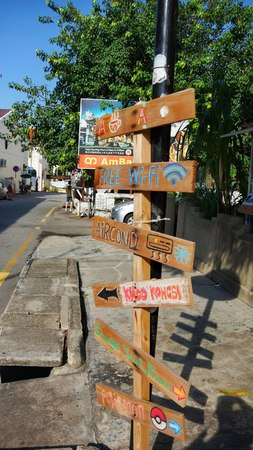 Signage heading to everywhere in Penang