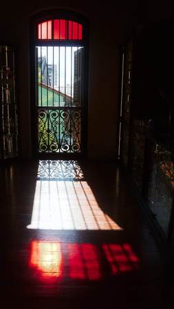 The interior and courtyard of the green mansion in Penang