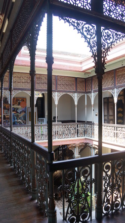 The interior and courtyard of the blue mansion in Penang