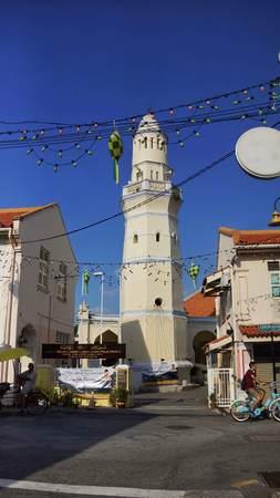 Beautiful Malay Mosque in Acheh Street, Penang Editorial