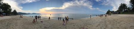Sunset scene at Batu Ferringhi Beach in Penang