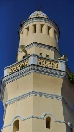 Beautiful Malay Mosque in Acheh Street, Penang Imagens