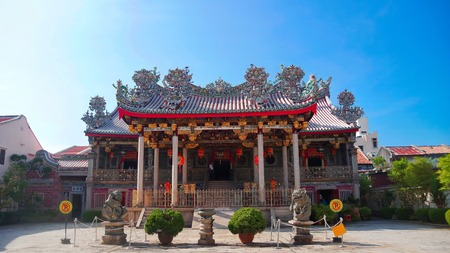 One of the most famous landmark in Penang, the Khoo Kongsi clan house Editorial