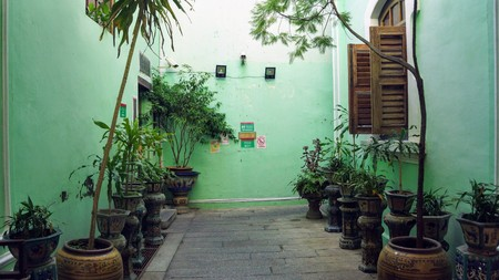 The majestic green mansion exterior in Penang Editorial