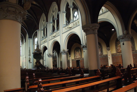 Interior and museum of Jakarta Cathedral in Jakarta, Indonesia