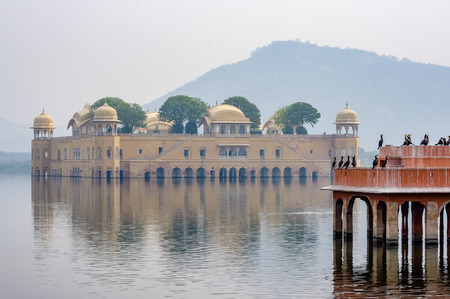 Water Palace Sunken Jaipur India. Very much one of the main tourist attractions and points of interest in the area.