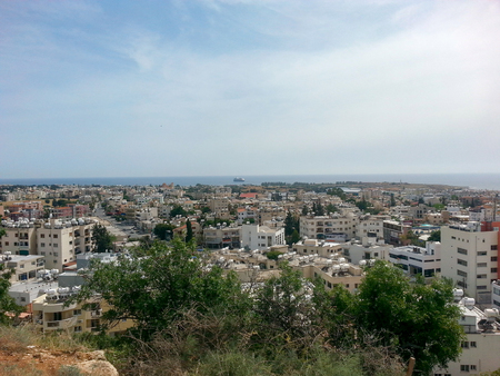 Cyprus Paphos skyline and city scene. Very much one of the main tourist attractions and points of interest in the area.