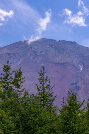 Mount Fuji Peak Japan Summit. Very much one of the main tourist attractions and points of interest in the area.