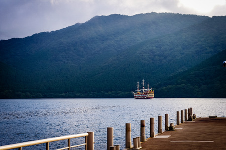 Lake Hakone Pirate Ship Boat Japan. Very much one of the main tourist attractions and points of interest in the area.