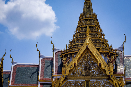 Grand Palace Thailand South East Asia. Very much one of the main tourist attractions and points of interest in the area.