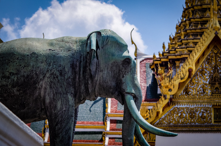 Grand Palace Elephant Monument Thailand. Very much one of the main tourist attractions and points of interest in the area.