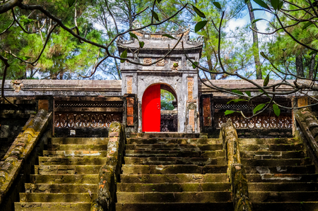 Hue Imperial Tomb Vietnam South East Asia. Very much one of the main tourist attractions and points of interest in the area.