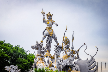 Bali Warrior Statue Monument Indonesia. Very much one of the main tourist attractions and points of interest in the area.