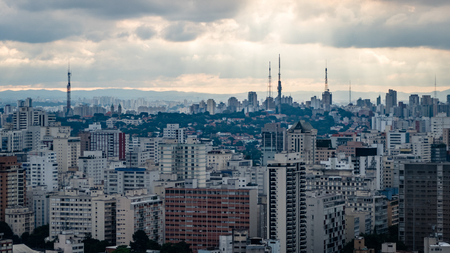 Sao Paulo Skyline City Scape Brazil South America. Very much one of the main tourist attractions and points of interest in the area.