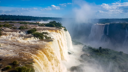 Amazing Waterfalls in Brazil South America. Very much one of the main tourist attractions and points of interest in the area. Banque d'images
