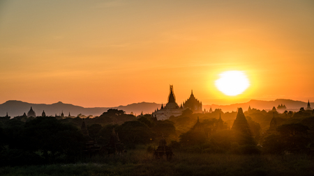 Bagan Temples and Religious sites Burma Myanmar. Buddhist temples and artifacts from this ancient city Stock fotó