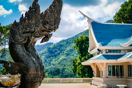 Wat Phu kon Temple in Northern Thailand South Eat Asia. Buddhist temple and rare sight tourists rarely see