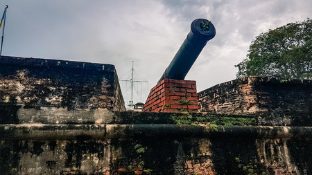 Fort Cornwallis Penang Malaysia  South East Asia. Old english colonial fort  a main tourisit attraction for the island 스톡 콘텐츠