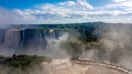 Amazing Waterfalls in Brazil South America. Very much one of the main tourist attractions and points of interest in the area. Stock Photo