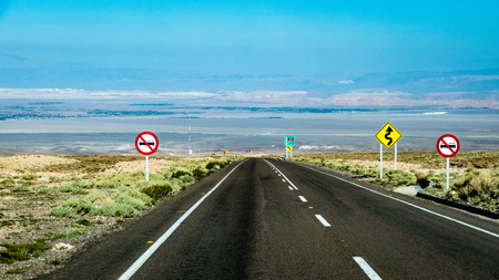 Bolivia highway road motorway Scene. Very much one of the main tourist attractions and points of interest in the area.